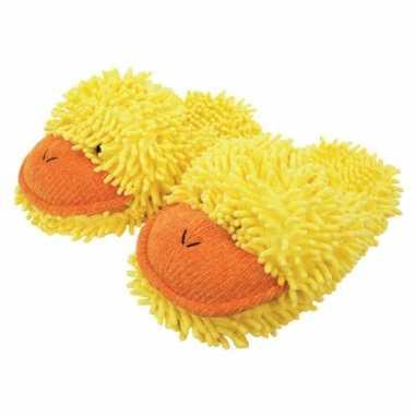 Gele eend pantoffels voor dames