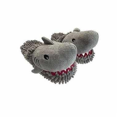 grijze haai pantoffels voor dieren sloffen kopen nl