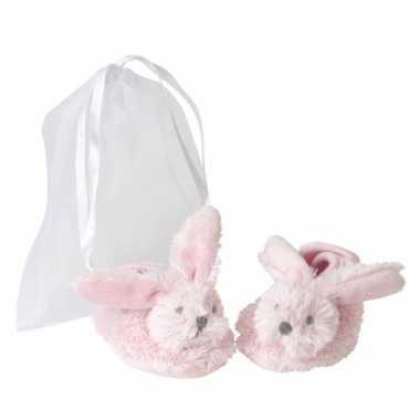 Happy horse baby slofjes konijn roze
