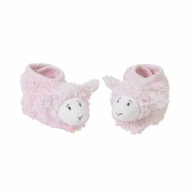 Happy horse pluche lammy slofjes roze