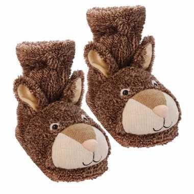 Pantoffel sokken konijn